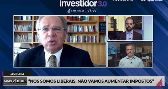 Paulo Guedes no evento Investidor 3.0, da Empiricus e da Vitreo