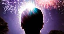 Ano Novo Fogos de Artifício Comemoração