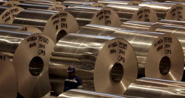 Fábrica de alumínio em Pindamonhangaba, SP
