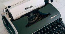 máquina de escrever, notícias, notícia, mercados, imprensa, jornalismo