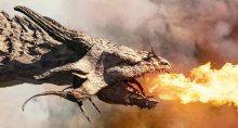 dragão, inflação, fogo, perigo
