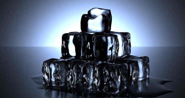 cubos de gelo, queda, desvalorização, perda, derreter, derretimento