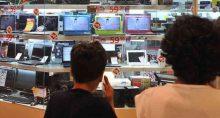 Loja de eletroeletrônicos, consumo, varejo, vendas, economia