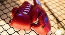 Luvas de boxe, disputa, polêmica, luta, combate, concorrência