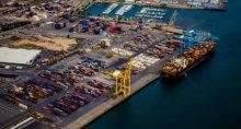 Exportações Contêineres Portos Navio