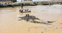 Enchente no Rio Acre, no Acre, em fevereiro de 2021