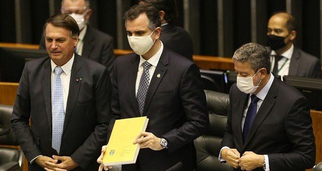 Rodrigo Pacheco Jair Bolsonaro e Arthur Lira