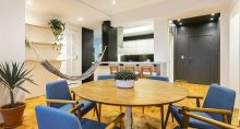 Sala, decoração, apartamento, Yuca