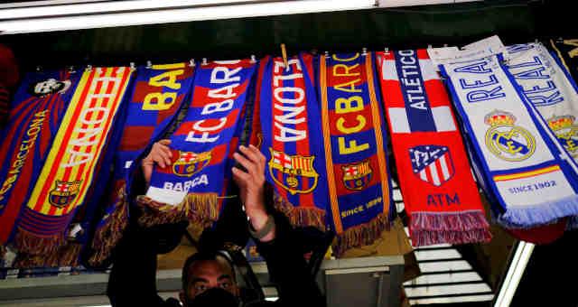 Barcelona Real Madrid e Atlético de Madrid