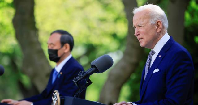 Joe Biden e premiê japonês
