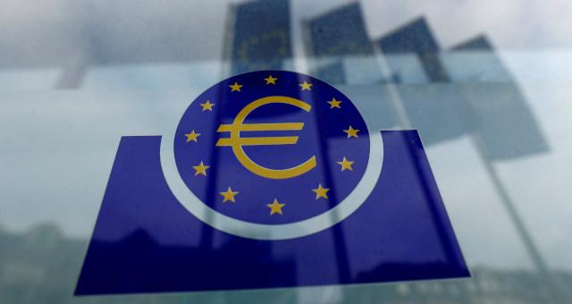 Logo do BCE em Frankfurt