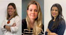Cristina Tamaso, Sofia Caccuri e Joana Mattos, gestoras do Quasar Crédito Imobiliário