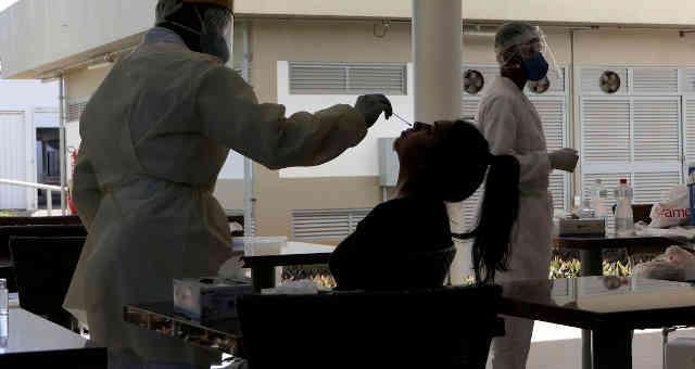 Teste para detectar o coronavírus