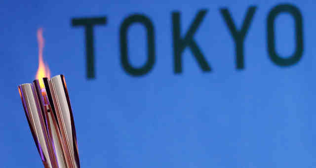 Tocha olímpica em Minamisoma