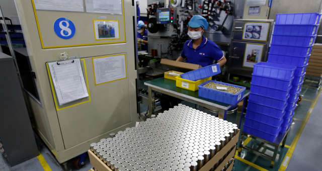 Baterias elétricas na China