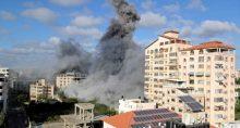 Fumaça em Gaza