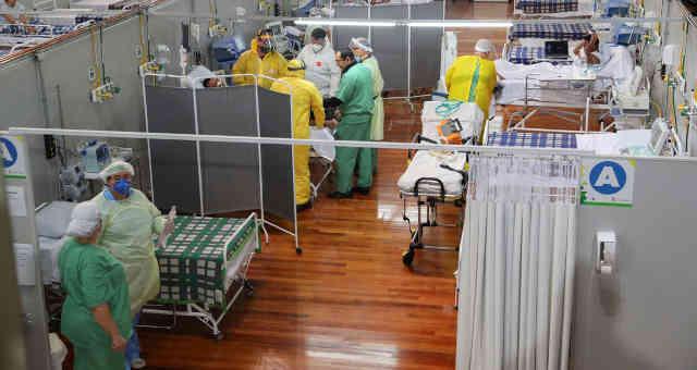 Hospital de campanha para o tratamento da Covid-19