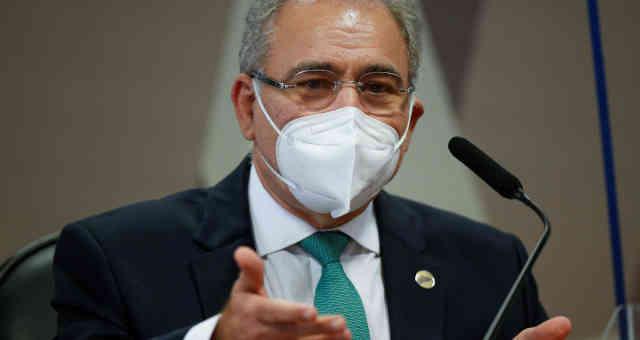 Ministro da Saúde, Marcelo Queiroga, em depoimento à CPI da Covid