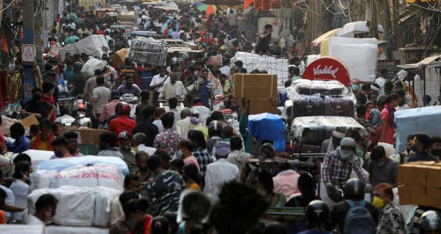 Mercado em Nova Délhi