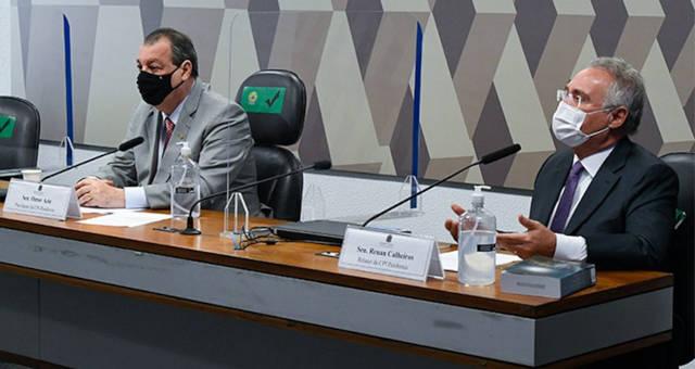 Omar Aziz e Renan Calheiros