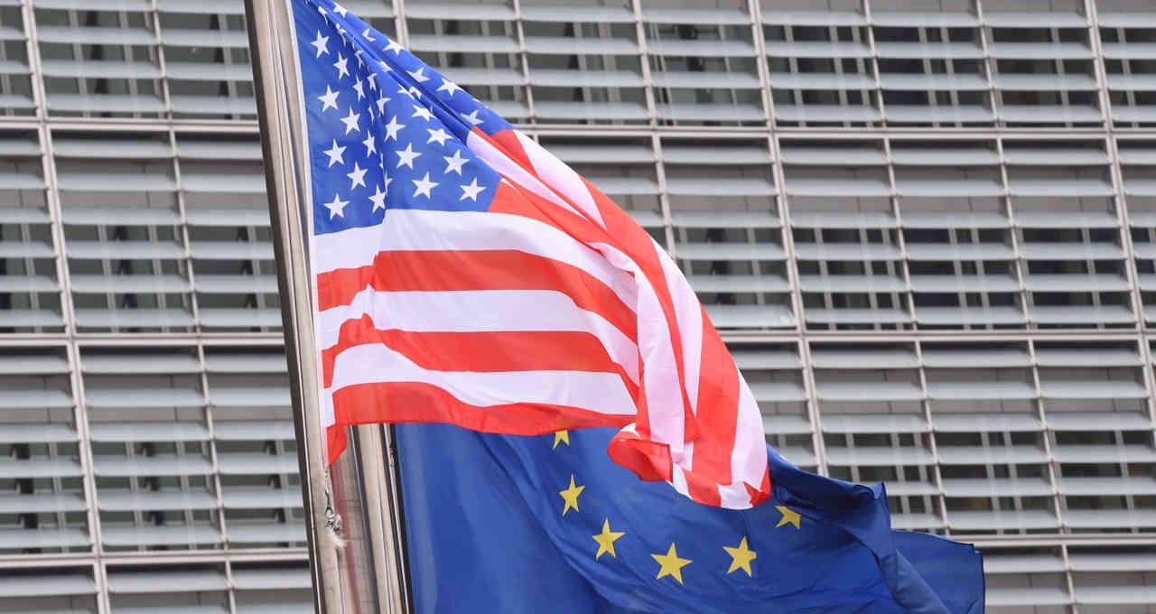 Bandeira Eua e UE