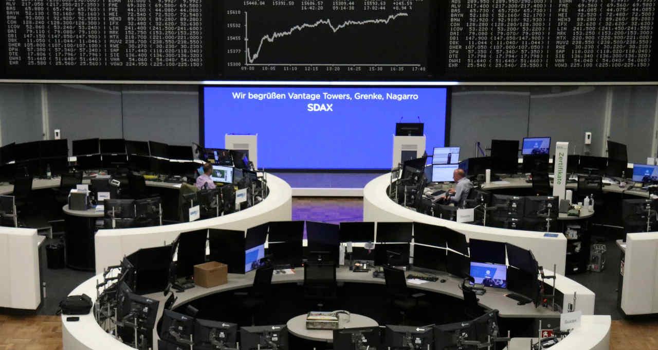Interior da Bolsa de Valores de Frankfurt 21/06/2021