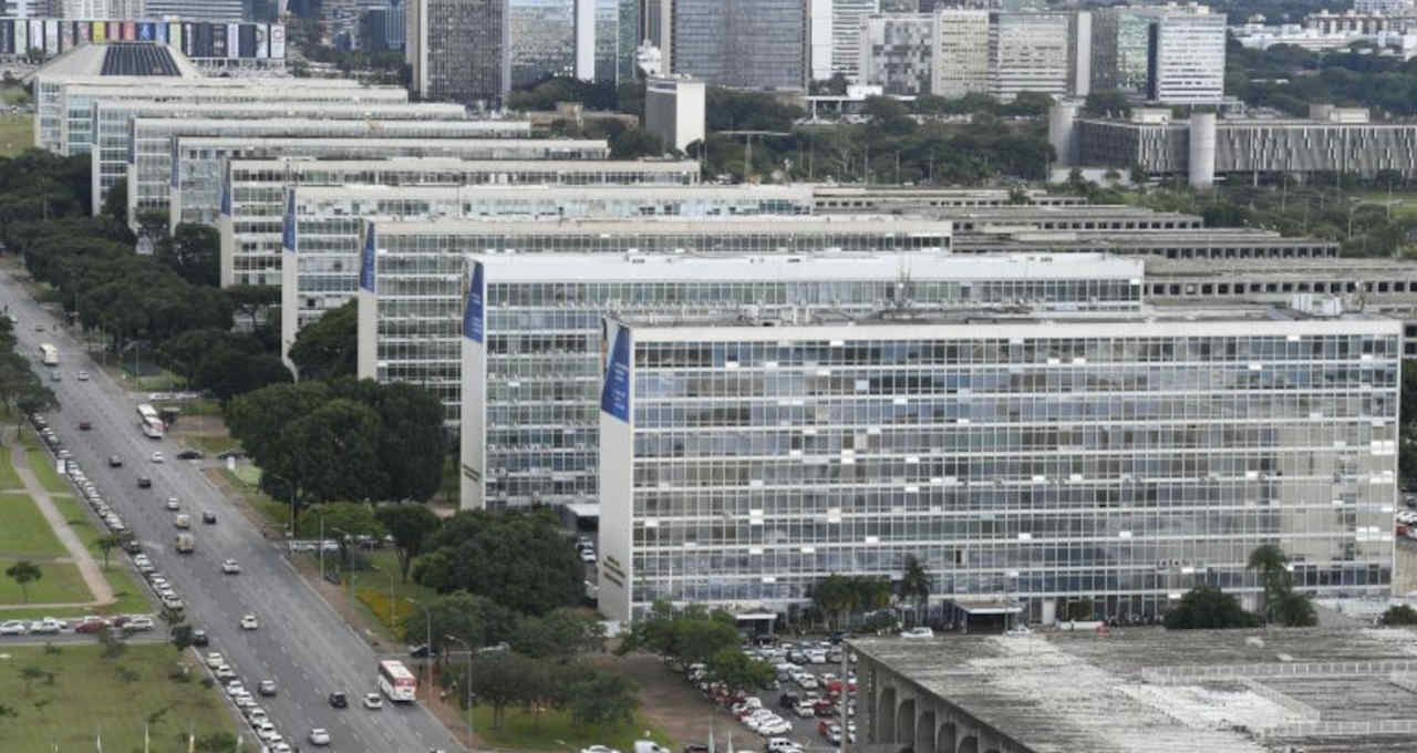 Esplanada dos Ministérios, em Brasília, onde trabalham milhares de servidores