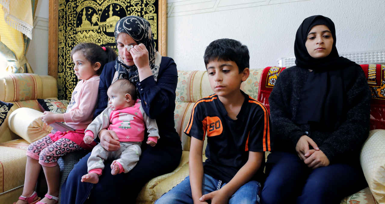 Esposa e filhos de Nizar Banat
