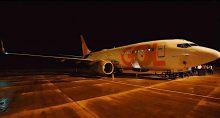 Avião da Gol no aeroporto de Araçatuba (SP)