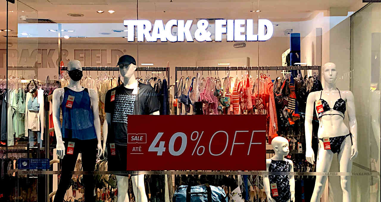 Loja da Track & Field, comércio, varejo, consumo, economia, shopping