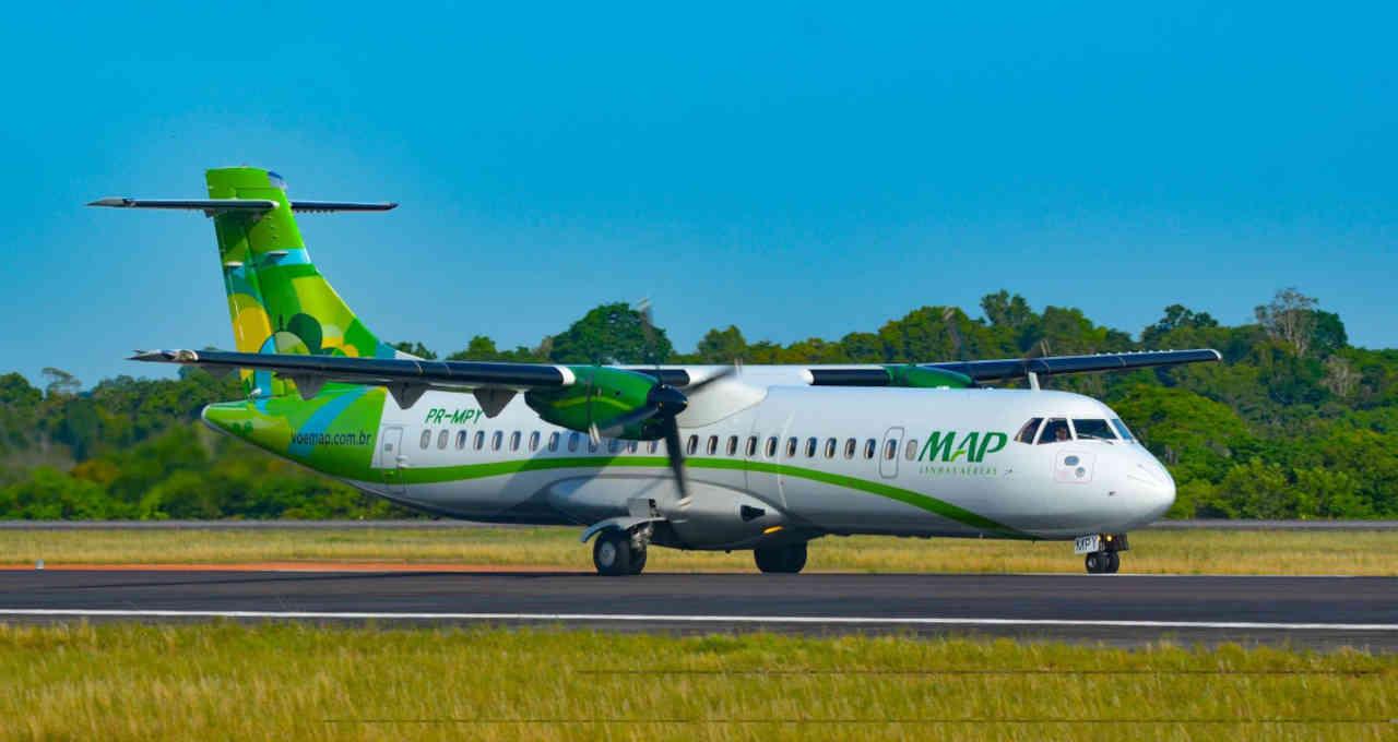 aeronave ATR da MAP Linhas Aéreas