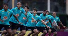Seleção brasileira de futebol treina para as Eliminatórias da Copa do Quatar