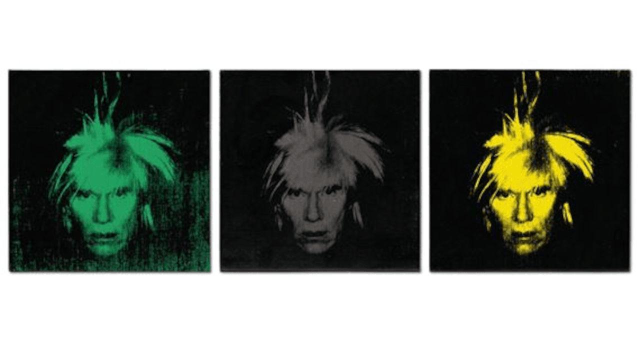 Three Self portraits Andy Warhol