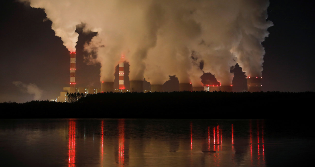 Usina de energia movida a carvão