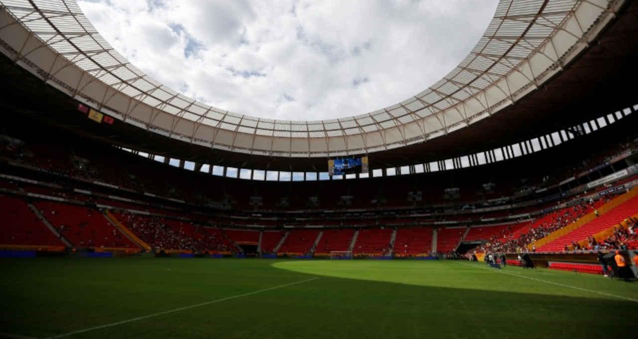 Vista do estádio Mané Garrincha, em Brasília (DF)