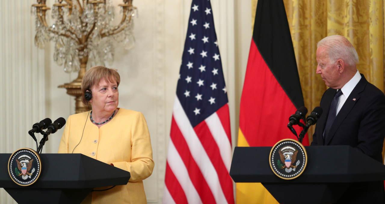 Biden, Merkel