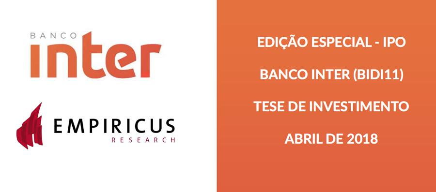 Relatório com tese de investimento do IPO de Banco Inter BIDI11