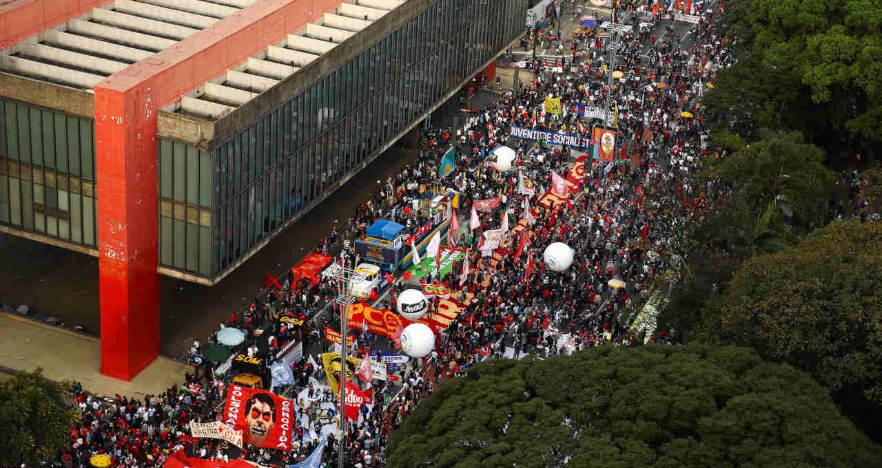 Protesto contra o governo em São Paulo