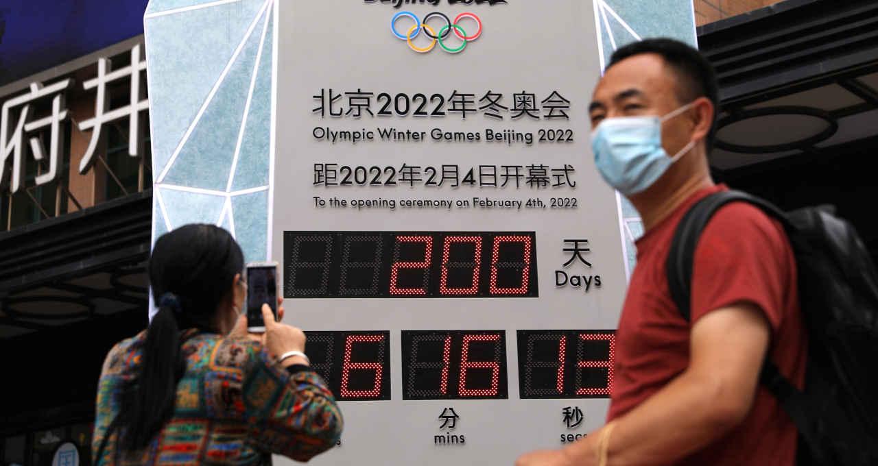 Relógio de contagem regressiva em Pequim