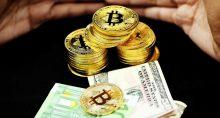 bitcoin dinheiro cédulas euro dólar criptomoedas