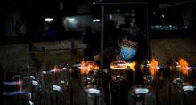 Fábrica de produtos de vidro em Haian, China
