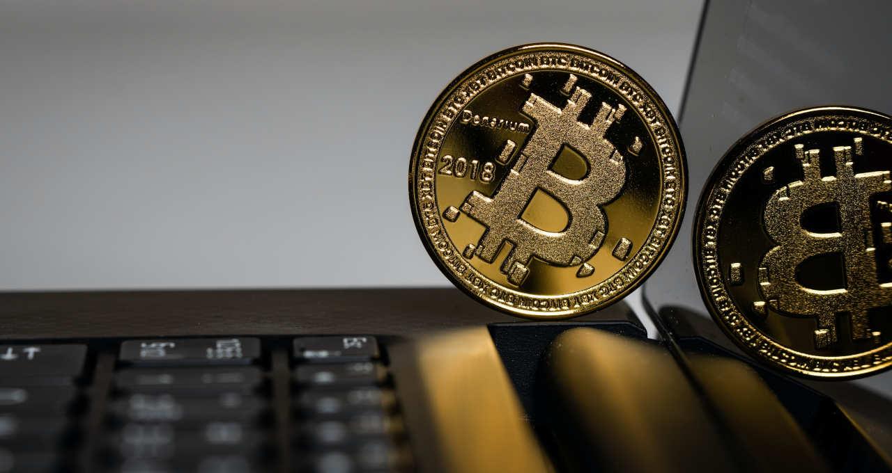 bitcoin laptop notebook