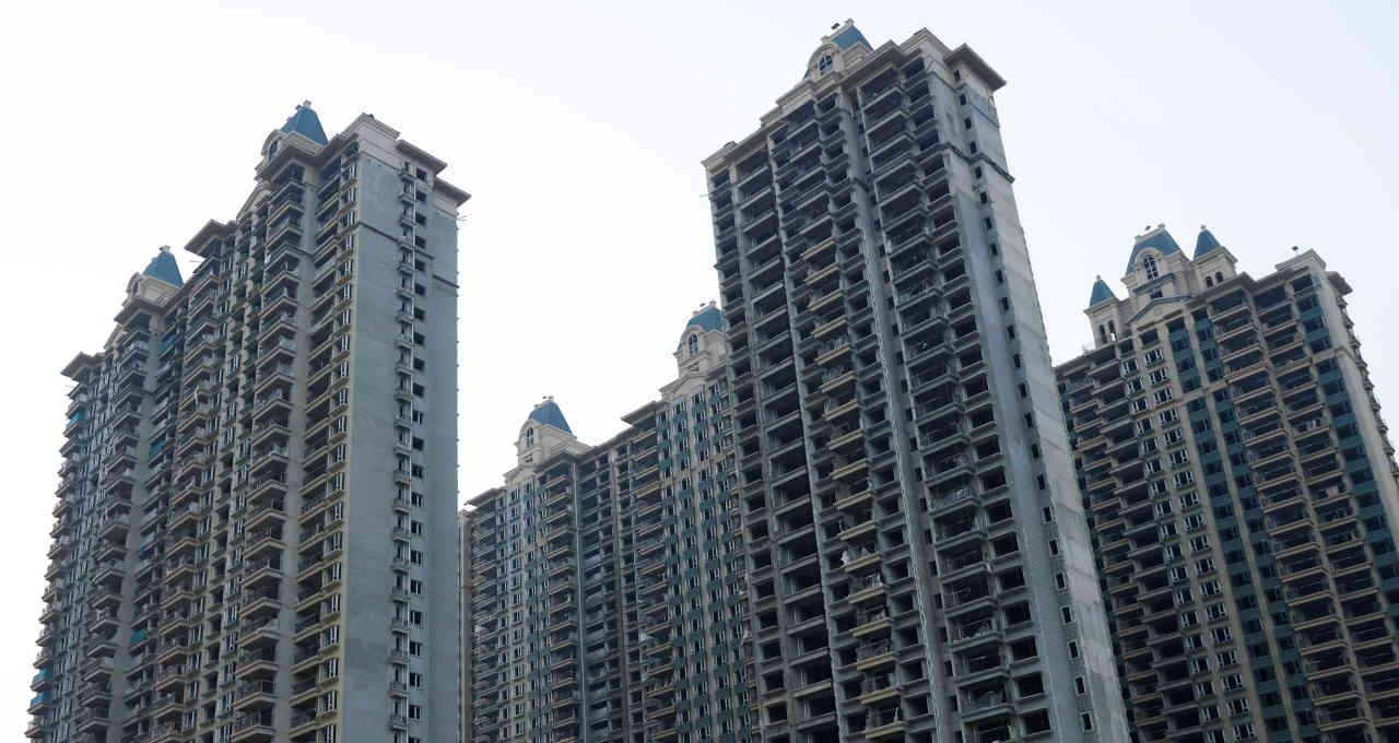 Complexo imobiliário inacabado da chinesa Evergrande