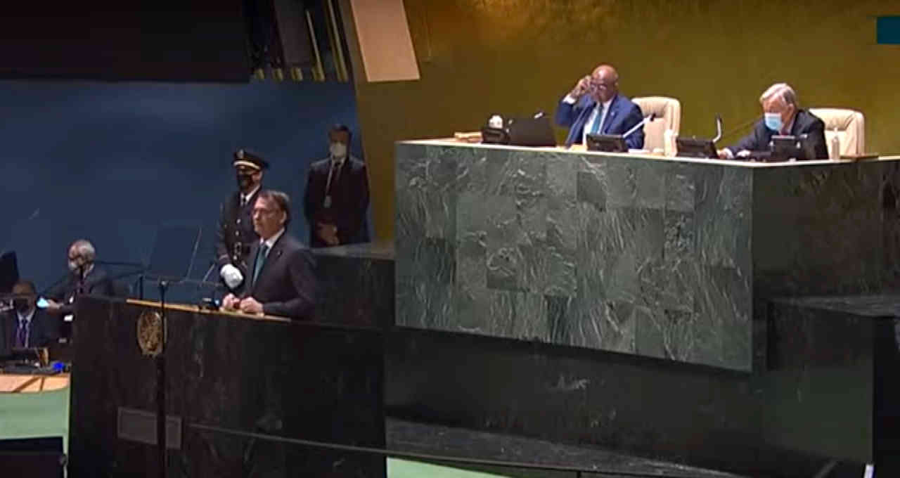 Jair Bolsonaro discursa na Assembleia Geral da ONU em 2021