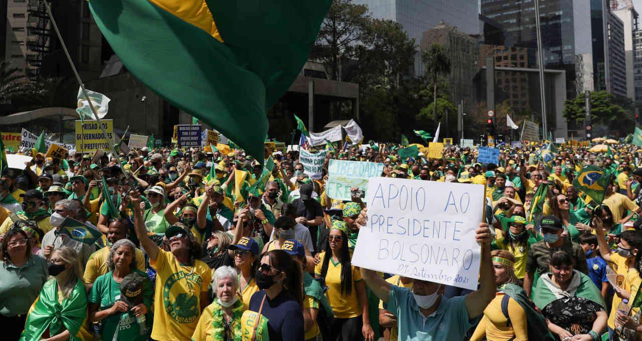 Ato em apoio ao presidente Jair Bolsonaro em São Paulo