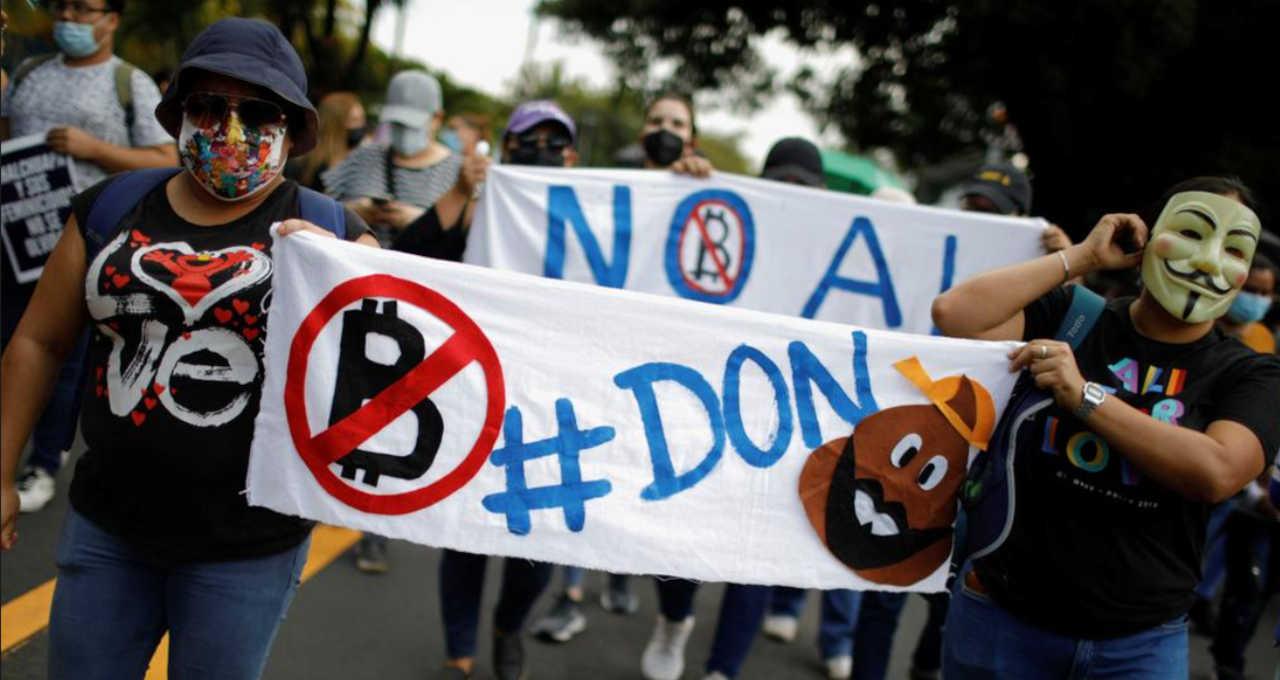 Protesto El Salvador