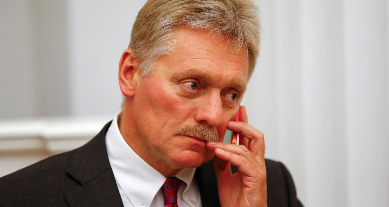 Porta-voz do Kremlin, Dmitry Peskov, durante entrevista coletiva em Moscou