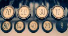 Caixa registradora, lucro, contas, números, investimentos