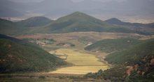 Campo de arroz na Coreia do Norte