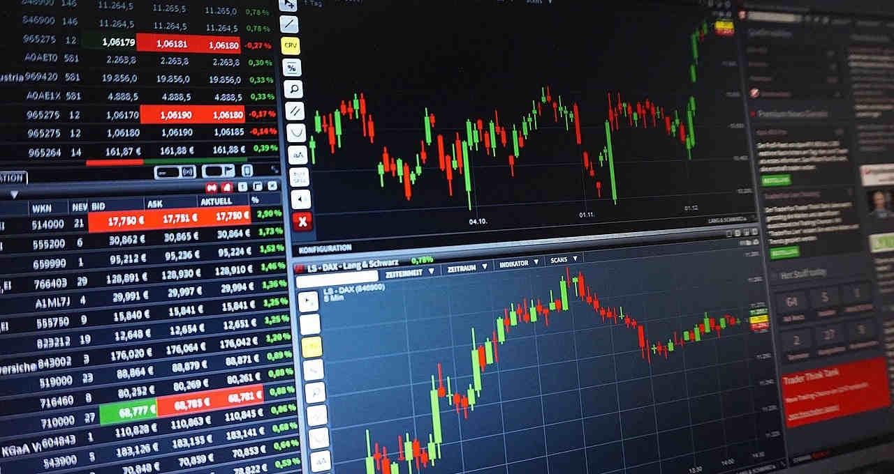 Gráfico Ações Bolsa de Valores